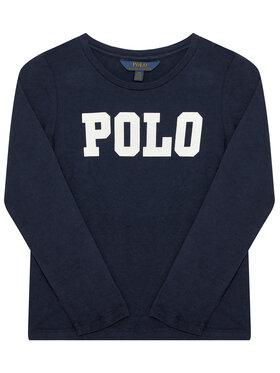 Polo Ralph Lauren Polo Ralph Lauren Bluzka Ls Polo Tee 312759123004 Granatowy Regular Fit