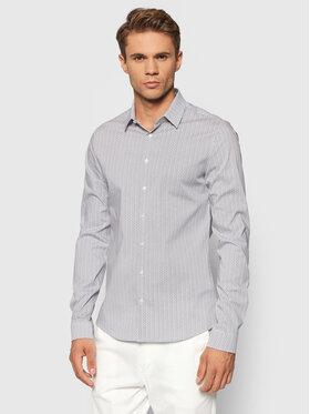 Calvin Klein Calvin Klein Koszula Printed Stretch K10K107345 Biały Extra Slim Fit