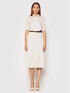 Rinascimento Rinascimento Košilové šaty CFC0103096003 Béžová Regular Fit