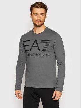 EA7 Emporio Armani EA7 Emporio Armani Тениска с дълъг ръкав 6KPT30 PJ6EZ 1977 Сив Regular Fit
