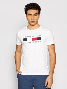 Tommy Hilfiger Tommy Hilfiger T-Shirt Logo Box MW0MW16583 Biały Regular Fit