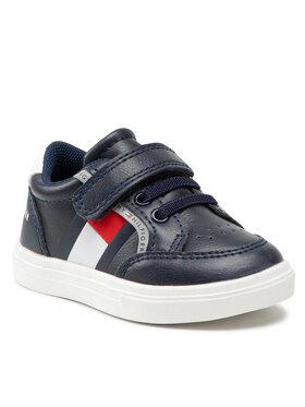 Tommy Hilfiger Tommy Hilfiger Sneakersy Low Cut Lace T1B4-32038-0754Y004 Granatowy