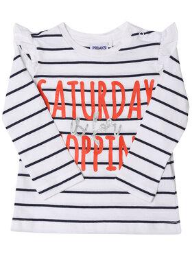 Primigi Primigi Bluză Shopping Time 45211511 Alb Regular Fit