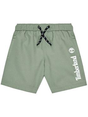 Timberland Timberland Pantaloncini da bagno T24B44 D Verde Regular Fit