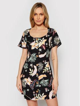 Roxy Roxy Každodenné šaty All Eyes On Love ERJWD03556 Čierna Regukal Fit