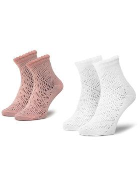 Mayoral Mayoral Set di 2 paia di calzini lunghi da bambini 10785 Bianco