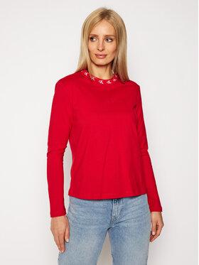 Calvin Klein Jeans Calvin Klein Jeans Halenka Logo Trim J20J214994 Červená Regular Fit