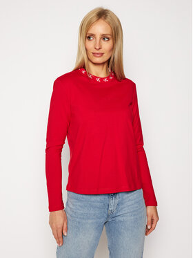 Calvin Klein Jeans Calvin Klein Jeans Μπλουζάκι Logo Trim J20J214994 Κόκκινο Regular Fit