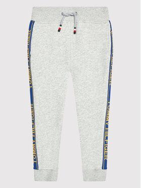 Tommy Hilfiger Tommy Hilfiger Teplákové kalhoty Varsity Rib Insert Sweatpants KB0KB06387 M Šedá Regular Fit