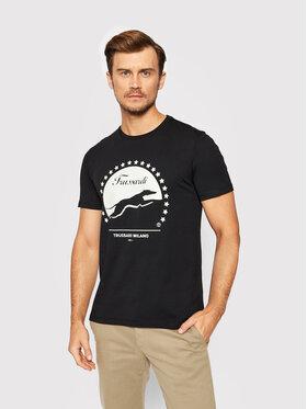 Trussardi Trussardi T-Shirt 52T00449 Czarny Regular Fit