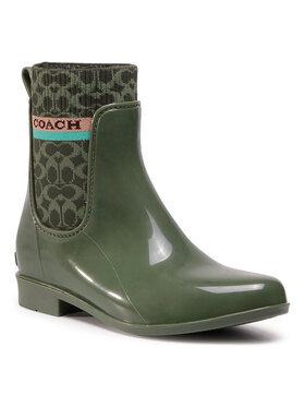 Coach Coach Cizme de cauciuc Rivington Rain Booti G5254 10011291 Verde