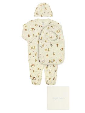 Polo Ralph Lauren Polo Ralph Lauren komplet_spiochy_czapka_i_sliniak Seasonal Icon I 320790518001 Бял Regular Fit