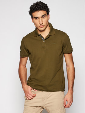 Geox Geox Polo Sustainable M1210C T2649 F3230 Zielony Regular Fit