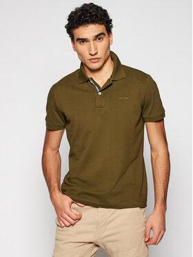 Geox Geox Тениска с яка и копчета Sustainable M1210C T2649 F3230 Зелен Regular Fit