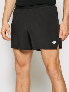 4F 4F Pantaloncini sportivi H4L21-SKMF011 Nero Regular Fit