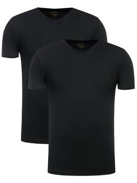 Polo Ralph Lauren Polo Ralph Lauren 2 póló készlet 714513433 Fekete Slim Fit