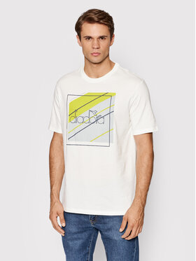 Diadora Diadora T-Shirt Palle Urbanity 502.177837 Biały Regular Fit