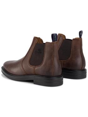 Gant Gant Kotníková obuv s elastickým prvkem Fargo 19651900 Hnědá