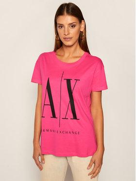 Armani Exchange Armani Exchange Marškinėliai 8NYTCX YJG3Z 1485 Rožinė Regular Fit