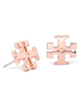 Tory Burch Tory Burch Kolczyki Logo Stud Earring 11165504 Różowy