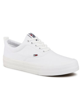Tommy Jeans Tommy Jeans Sneakers aus Stoff Classic Tommy Jeans Sneaker EM0EM00530 Weiß