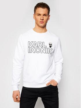 KARL LAGERFELD KARL LAGERFELD Bluză Crewneck Ikonik 705029 511900 Alb Regular Fit