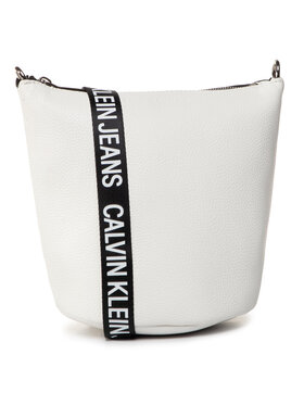 Calvin Klein Jeans Calvin Klein Jeans Sac à main Mini Bucket K60K606893 Blanc