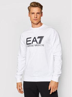 EA7 Emporio Armani EA7 Emporio Armani Суитшърт 6KPM60 PJ05Z 1100 Бял Regular Fit