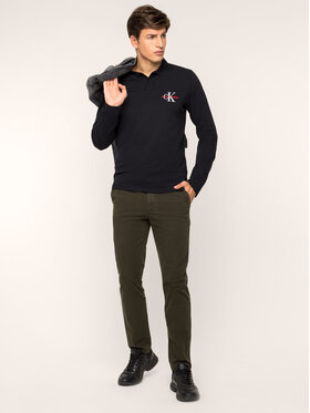 Calvin Klein Calvin Klein Bavlnené nohavice K10K104039 Zelená Regular Fit