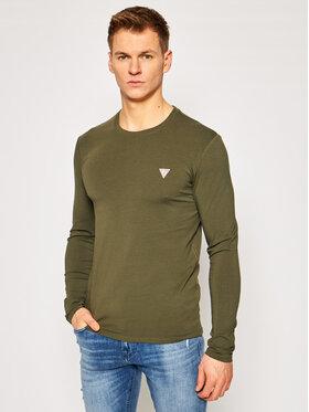Guess Guess Marškinėliai ilgomis rankovėmis M1RI28 J1311 Žalia Super Slim Fit