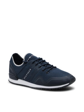 Tommy Hilfiger Tommy Hilfiger Sneakersy Iconic Sock Knit Runner FM0FM03615 Granatowy