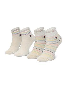 Tommy Hilfiger Tommy Hilfiger Sada 2 párů dětských vysokých ponožek 100002322 Bílá