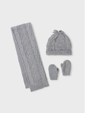 Mayoral Mayoral Комплект шапка, шал и ръкавици 10106 Сив
