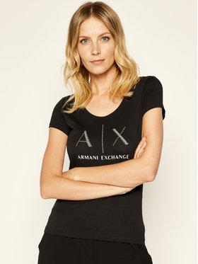 Armani Exchange Armani Exchange Tričko 8NYT83 YJ16Z 1200 Čierna Regular Fit