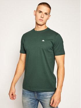 Kappa Kappa T-Shirt Hauke 308010 Zelená Regular Fit