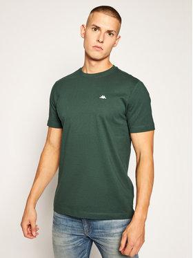 Kappa Kappa T-Shirt Hauke 308010 Zielony Regular Fit