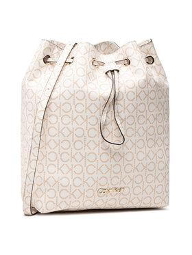 Calvin Klein Calvin Klein Дамска чанта Ck Mono Drawstring Md K60K606477 Бял