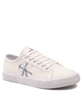 Calvin Klein Jeans Calvin Klein Jeans Tennis Vulcanized Sneaker Laceup Cp Blanc