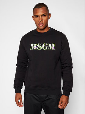 MSGM MSGM Felpa 2940MM219 207599 Nero Regular Fit