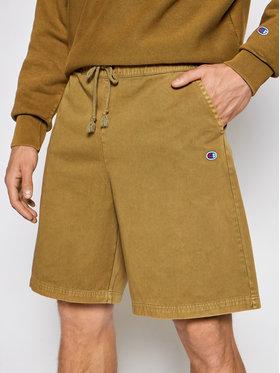 Champion Champion Pantalon scurți din material 216207 Verde Regular Fit
