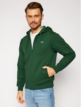Lacoste Lacoste Bluza SH1551 Zielony Regular Fit