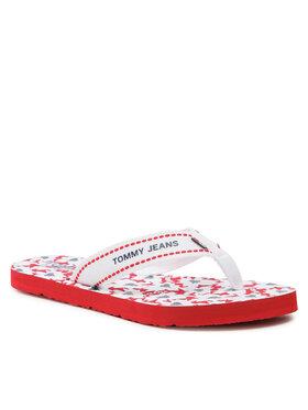 Tommy Jeans Tommy Jeans Σαγιονάρες Tommy Webbing Flat Beach Sandal EN0EN01428 Λευκό