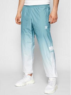 adidas adidas Sportinės kelnės adicolor 3D Trefoil 3-Stripes GN3587 Žalia Regular Fit