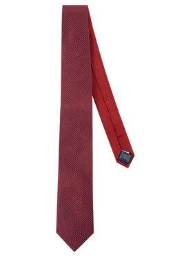 Tommy Hilfiger Tailored Tommy Hilfiger Tailored Krawatte Silk Micro Design TT0TT06481 Dunkelrot