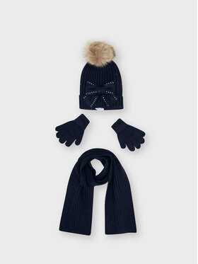 Mayoral Mayoral Completo cappello, sciarpa e guanti 10155 Blu scuro