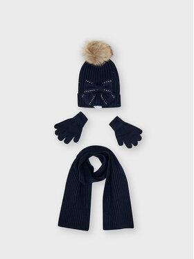 Mayoral Mayoral Комплект шапка, шал и ръкавици 10155 Тъмносин