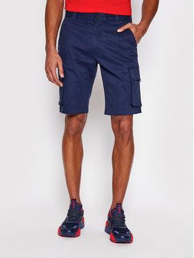 Tommy Jeans Bavlnené šortky Washed Cargo DM0DM11078 Tmavomodrá Regular Fit