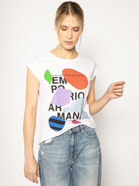 Emporio Armani Emporio Armani Marškinėliai 3H2T6A 2JQAZ 0100 Balta Regular Fit