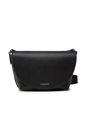 Calvin Klein Jeans Calvin Klein Jeans Handtasche Trapezoid Shadow E/W Flap Cony K60K608693 Schwarz