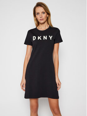 DKNY DKNY Každodenní šaty DD0AN421 Černá Regular Fit